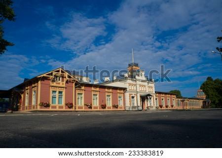 Old railway station - stock photo