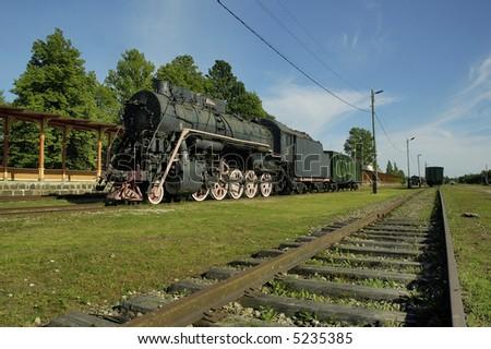 Old railway station in Haapsalu. Estonia. - stock photo