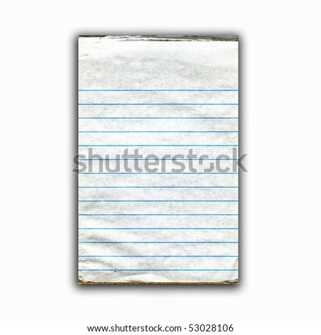 Old Real Lined Paper Pad - stock photo