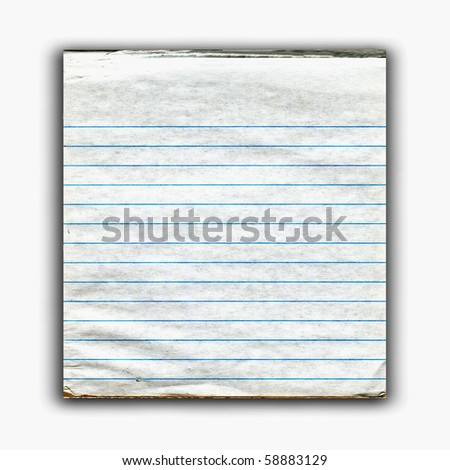 Old Real Notepad - stock photo