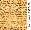 Old recipe handwriting detail - stock photo