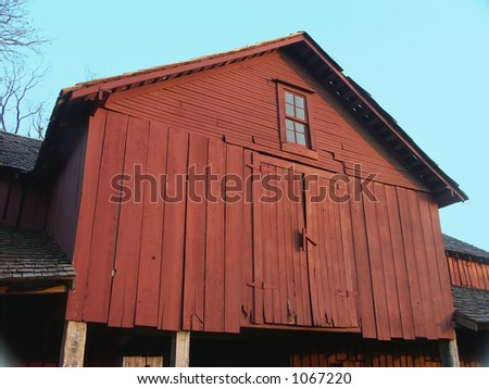Old Red Barn - stock photo