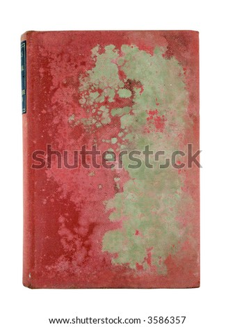 old red book cover - stock photo