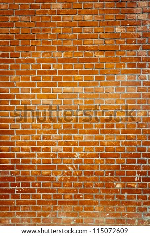 Old red brick wall backgrounds - stock photo