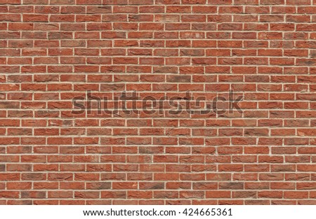 Old red brick wall texture, background.