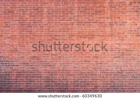 old red brick wall texture with some dirty - stock photo