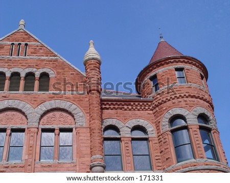 Old Red Court House, Dallas - stock photo