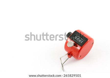 old red hand tally counter