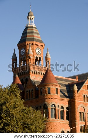 Old Red Museum (former courthouse) in Dallas, TX - stock photo