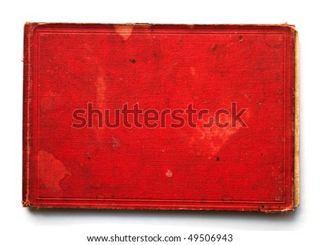 Old red notebook - stock photo