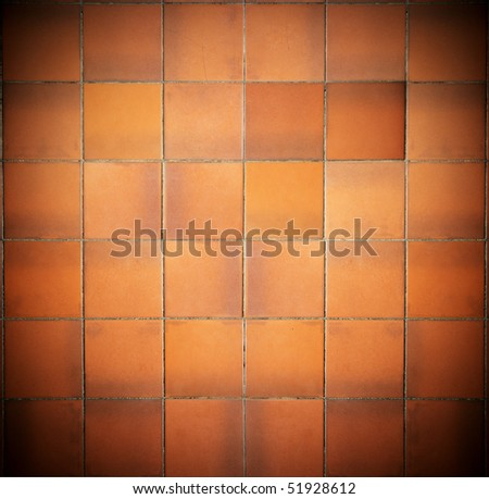 Old red tile background - stock photo