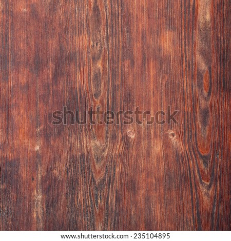 Old reddish brown wooden board texture - stock photo