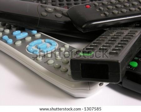 old remote control - stock photo