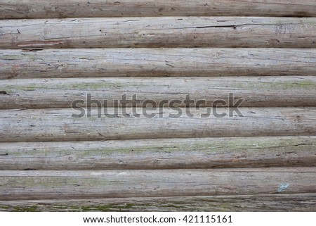 old residential ruined house, building fragment - stock photo