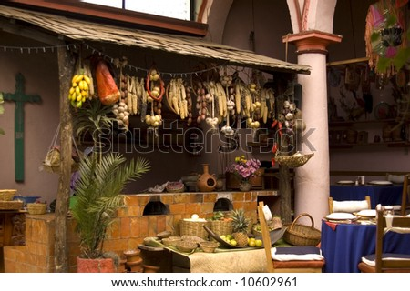 Old restaurant in Chiapas, Mexico - stock photo