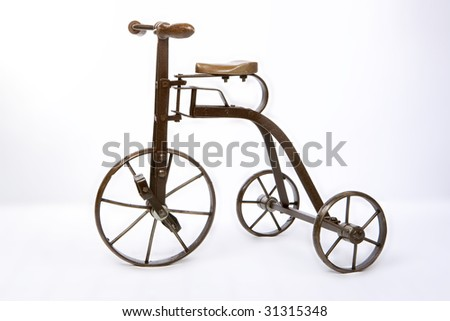 old  retro, bicycle, history, - stock photo