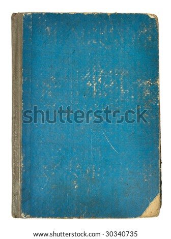 old retro book reversed on white background with clipping path - stock photo