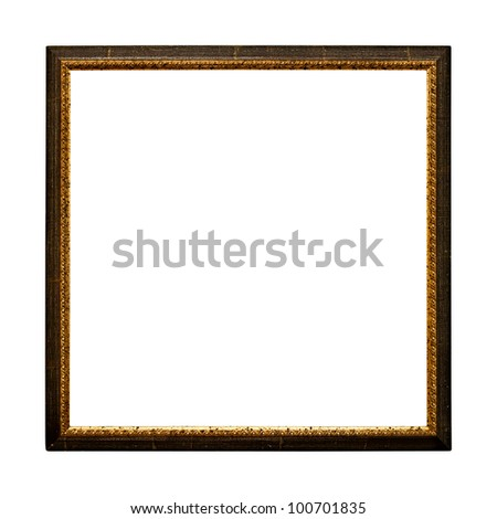 Old  retro picture frame (No#21b) isolated on white background  (detailed clipping paths included) - stock photo