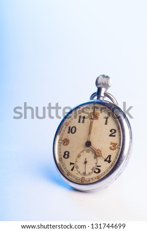 old retro pocket watch with space for text