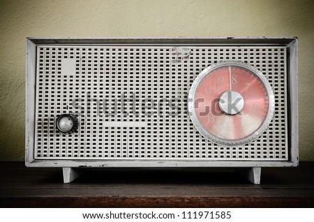 Old retro radio - stock photo