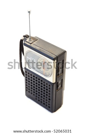 Old retro radio - stock photo