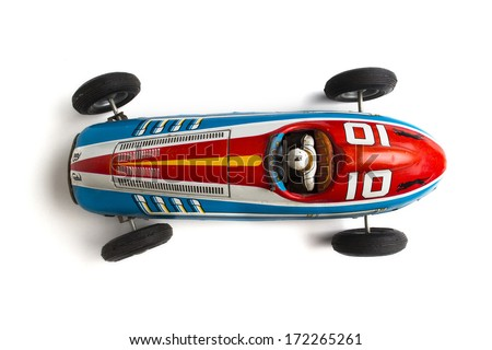 old retro sports race car - stock photo