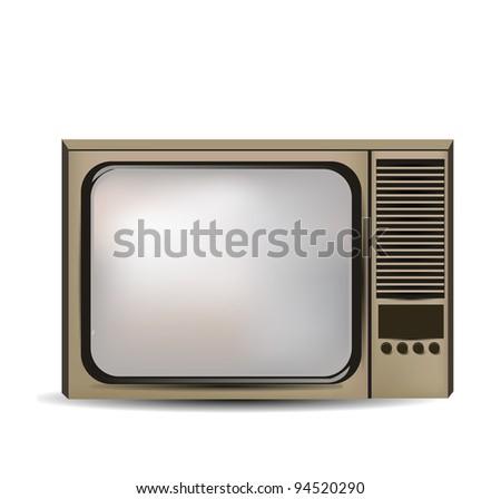 Old Retro TV - stock photo