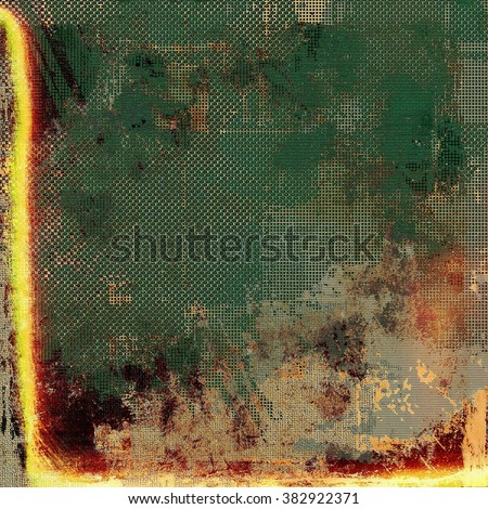 Old retro vintage texture. With different color patterns: yellow (beige); brown; green; red (orange); gray - stock photo
