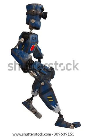 old robot breaking - stock photo