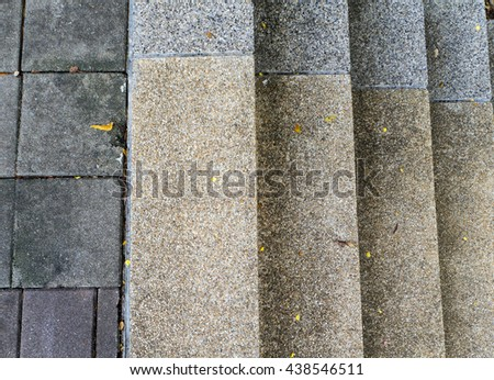 old rock stone cement stair architecture pattern make to paving way design - stock photo