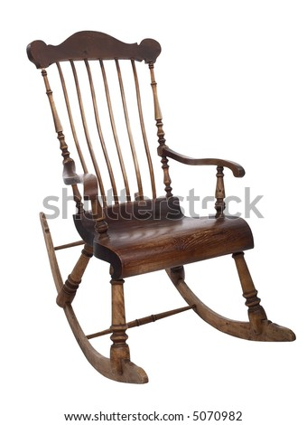 Old Rocking Chair - isolated on white