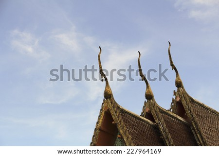 Old roof at thailand