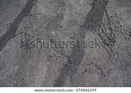 Old roof covered with tar paper
