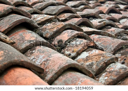 Old roof top - stock photo