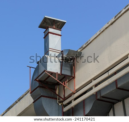 Old roof ventilated - stock photo