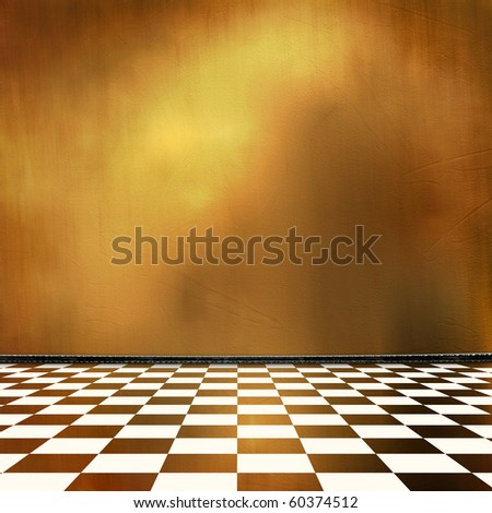 Old room, grunge industrial interior, worn  surface - stock photo