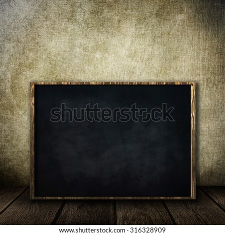 old room with a school board