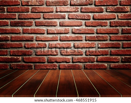 old room with brick wall , 3d illustration