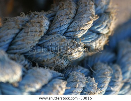 Old Rope 2 - stock photo