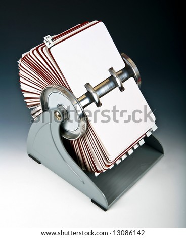 Old rotary card 2 - stock photo
