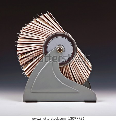 Old rotary card 3 - stock photo