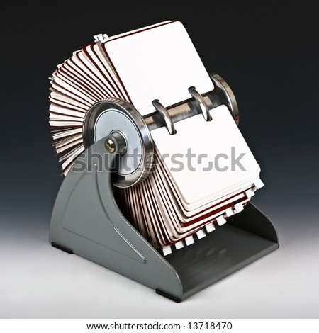 Old rotary card 6 - stock photo