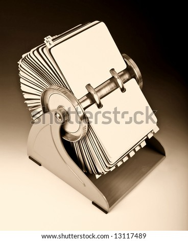 Old rotary card 2. Sepia version - stock photo