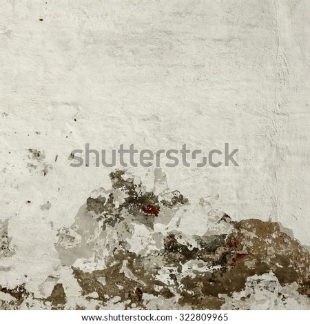 Old Rough Brick Wall With Whitewash Vertical Background Texture - stock photo