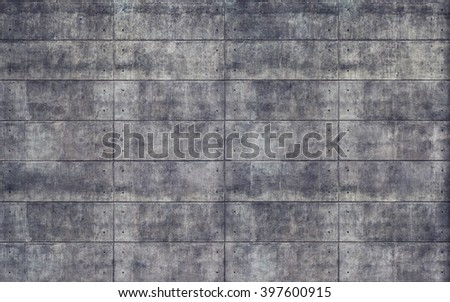 Old rough concrete tiles wall texture background - stock photo