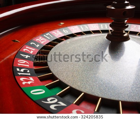 Old Roulette wheel. casino series. studio shot - stock photo