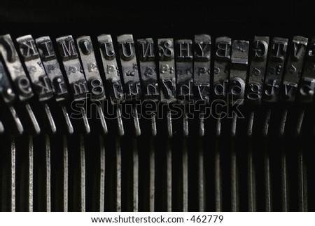 Old Royal Typewriter Keys - stock photo
