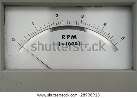 old RPM counter showing zero