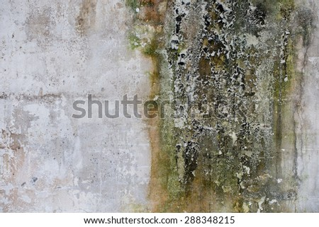 Old ruined and stained grungy wall texture - stock photo