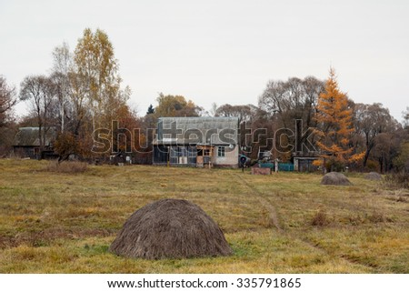 Old ruined farmhouse - stock photo